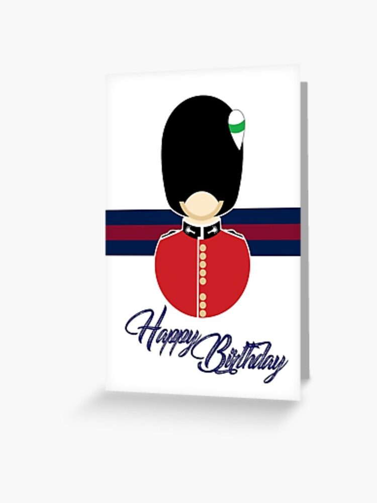 Welsh Guards Happy Birthday Card Greeting Card By Blueredblue Redbubble
