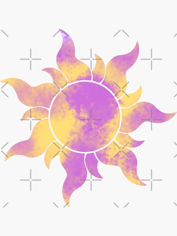 Tangled Sun Cloud Pattern/Watercolor by stickerr