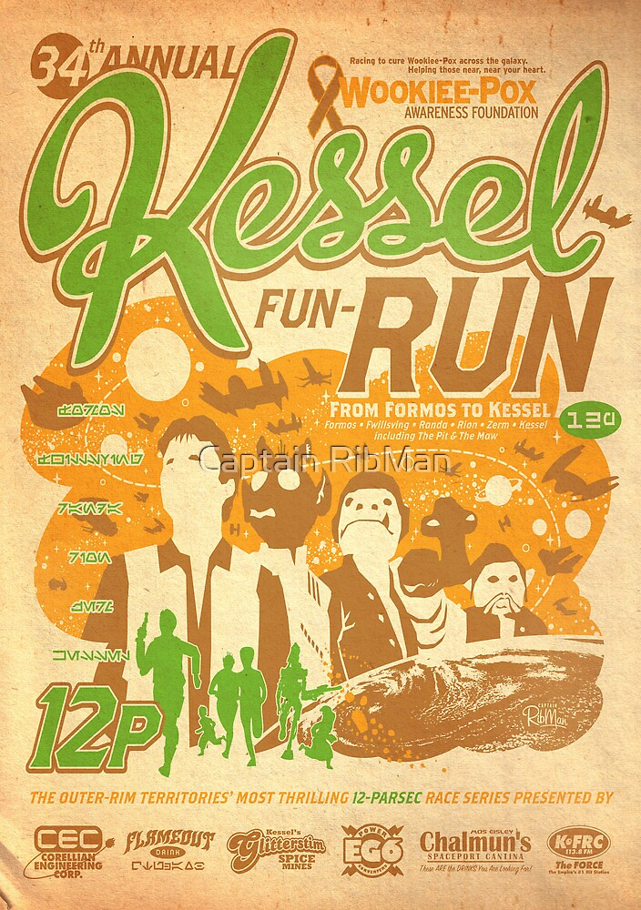 Kessel Fun-Run (12-Parsec Race to Cure Wookiee-Pox) by Captain RibMan