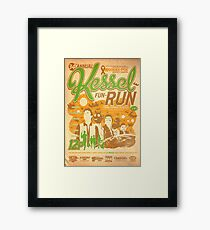 Kessel Fun-Run (12-Parsec Race to Cure Wookiee-Pox) Framed Print