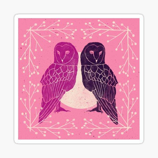 Two Owls Sticker