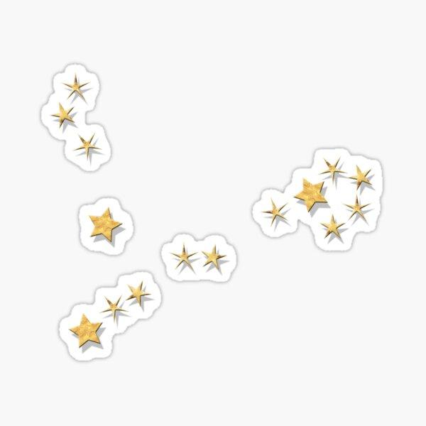 Pisces Golden Stars Constellation Sticker