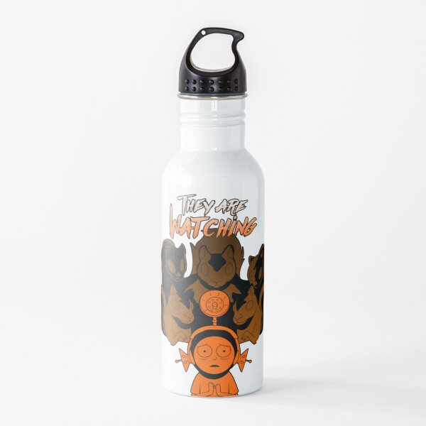 Observe us | Morty and squirrels Water Bottle