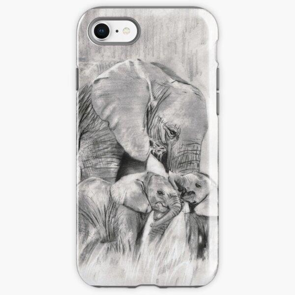 lil elephants...pencil iPhone Tough Case