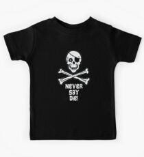 Never Say Die (White Text) Kids Clothes