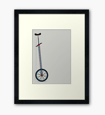 Very Tall Unicycle Framed Print