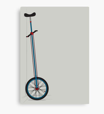 Very Tall Unicycle Canvas Print