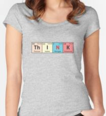 Periodic Table - Think Women's Fitted Scoop T-Shirt