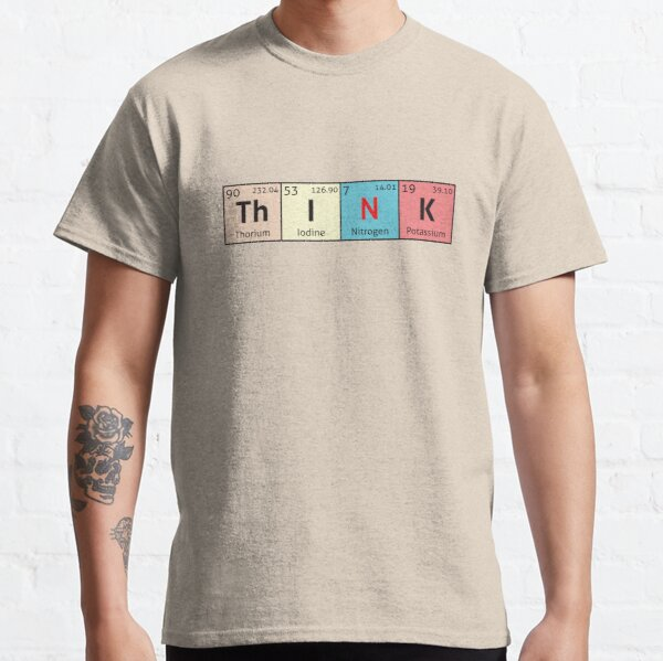Tabla periódica - Piensa Camiseta clásica
