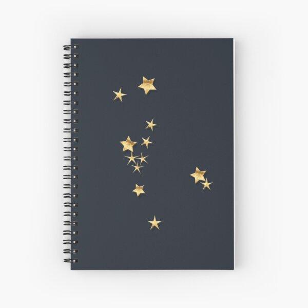 Taurus Golden Stars Constellation Spiral Notebook