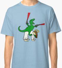 Dinosaur Riding Jesus Classic T-Shirt