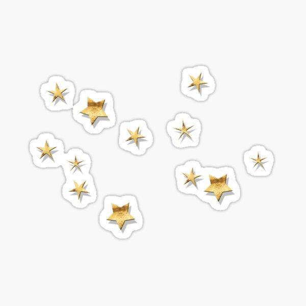 Virgo Golden Stars Constellation Sticker