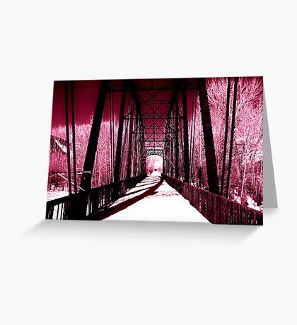 Pink Winter Walk Greeting Card