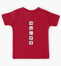 Schere Stein Papier Echse Spock Kinder T-Shirt