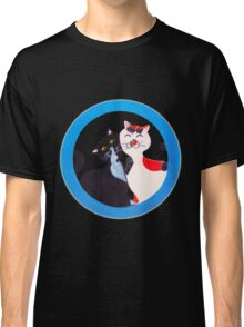 Manga Cats in love, hand painted Classic T-Shirt