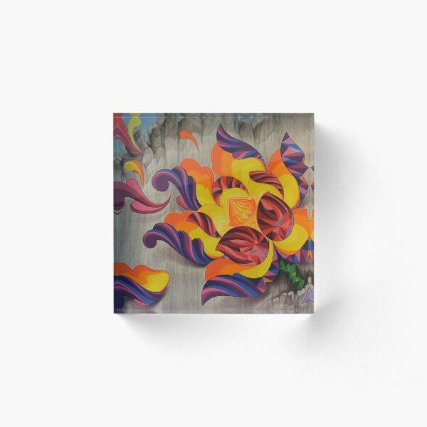 """Florecer"" (Bloom Over Destruction) Acrylic Block"