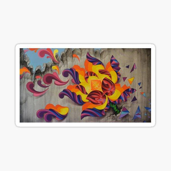 """""""Florecer"""" (Bloom Over Destruction) Sticker"""