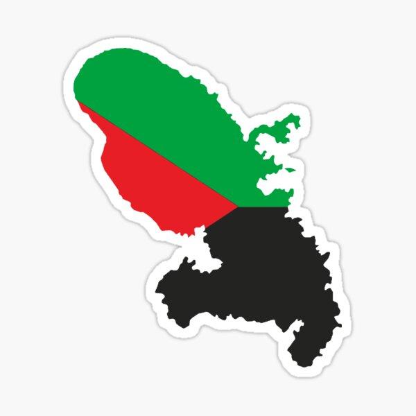 Martinique en rouge vert et noir Sticker
