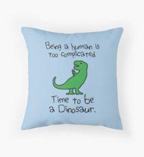 Cojín Tiempo para ser un dinosaurio