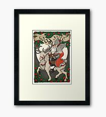 Nordic Santa - Red Framed Print