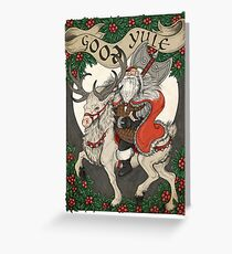 Nordic Santa - Red Greeting Card