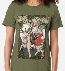 Nordic Santa - Red Tri-blend T-Shirt