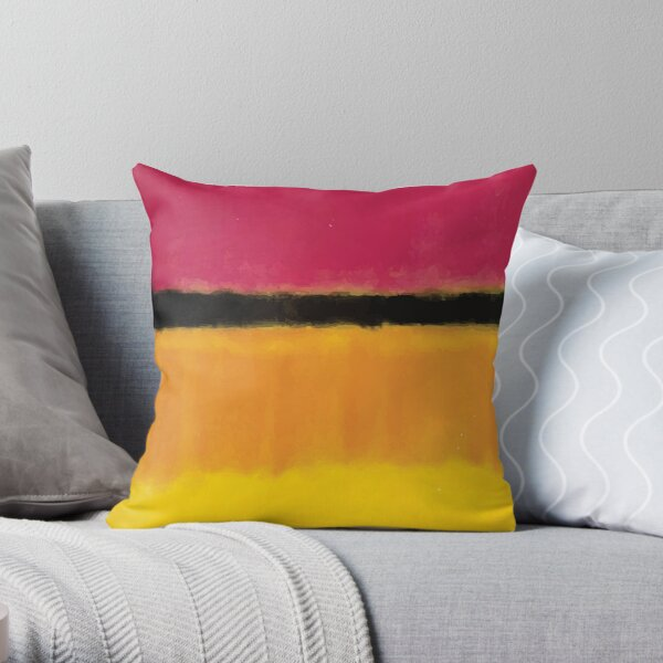 Mark Rothko | Violet, Black, Orange Yellow on White and Red Throw Pillow