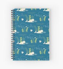 Very Hungry Whale Spiral Notebook