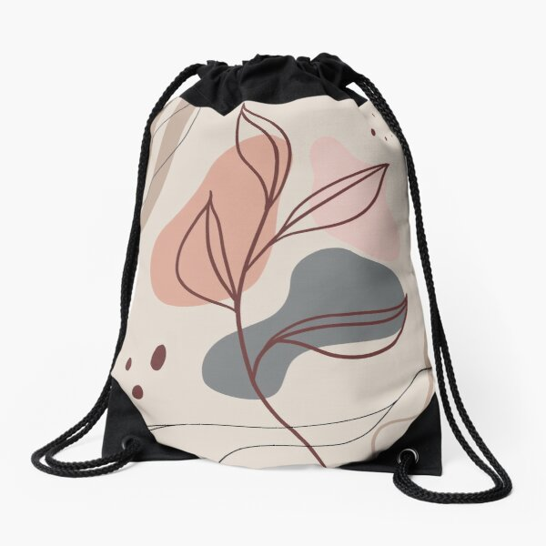 Modern plants Drawstring Bag