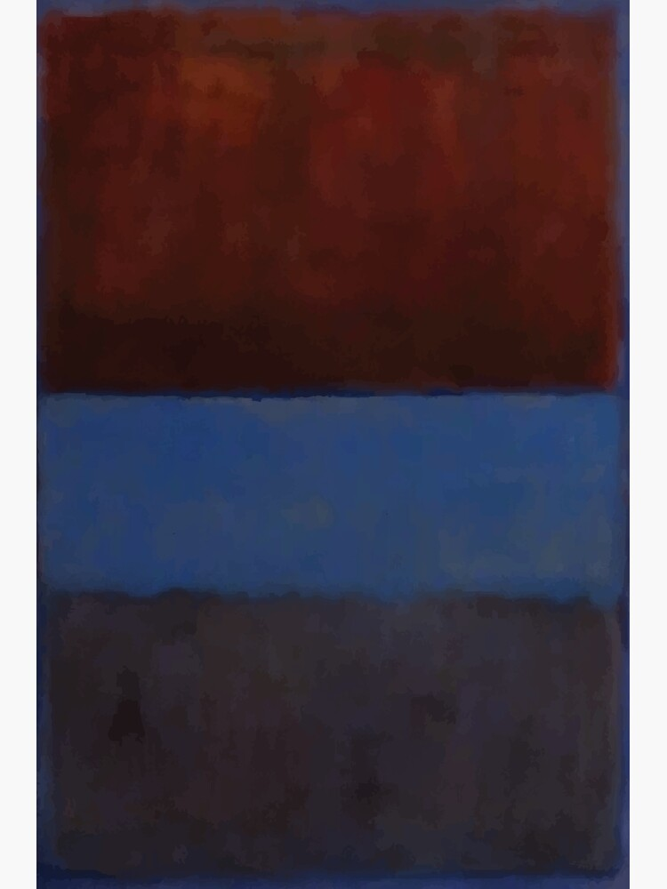 Mark Rothko   No. 61 (Rust and Blue) by badguyduh