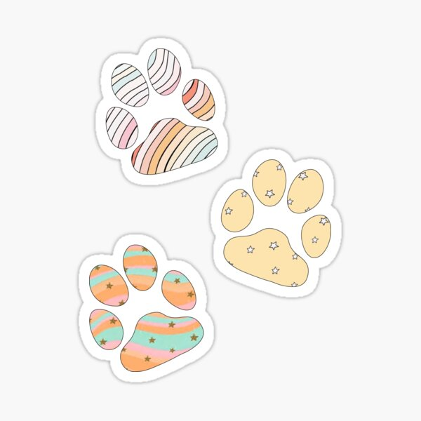 VSCO paw prints Sticker