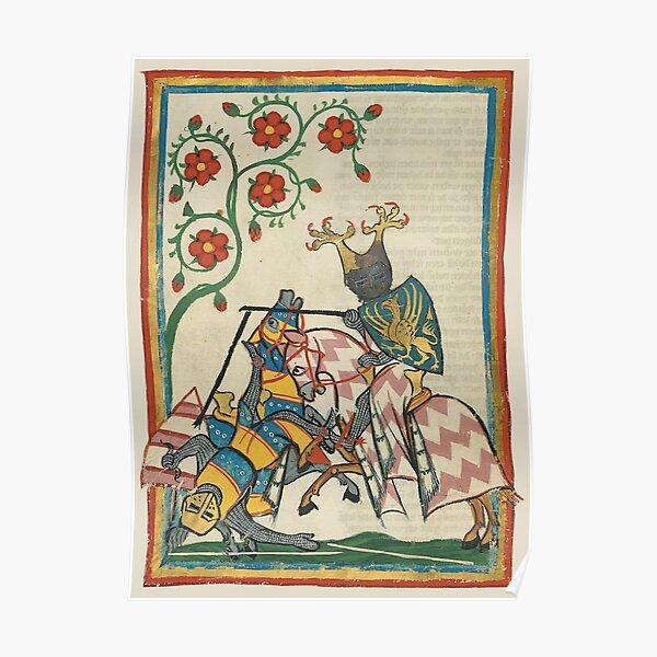 Page from Codex Manesse Poster