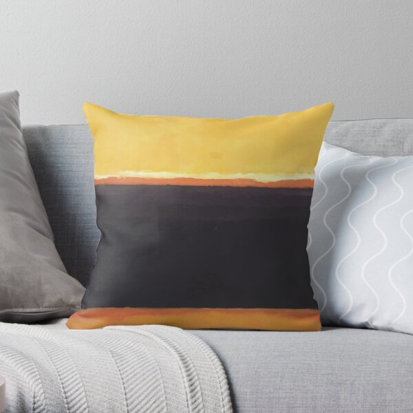 Mark Rothko | Yellow, Charcoal, Brown Throw Pillow
