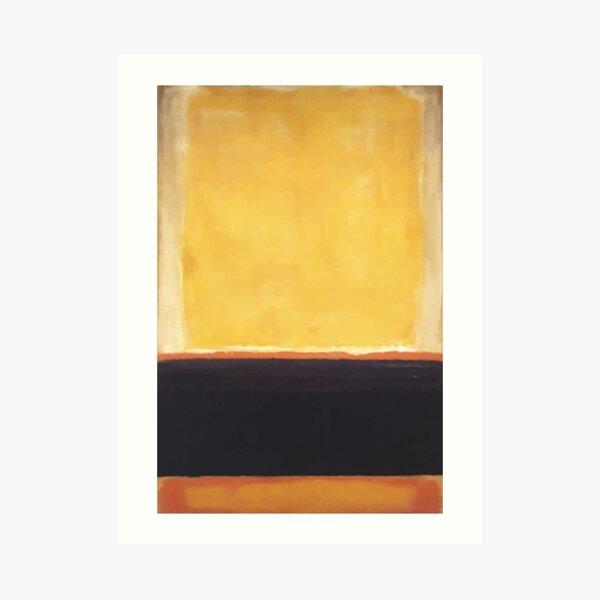 Mark Rothko   Yellow, Charcoal, Brown Art Print