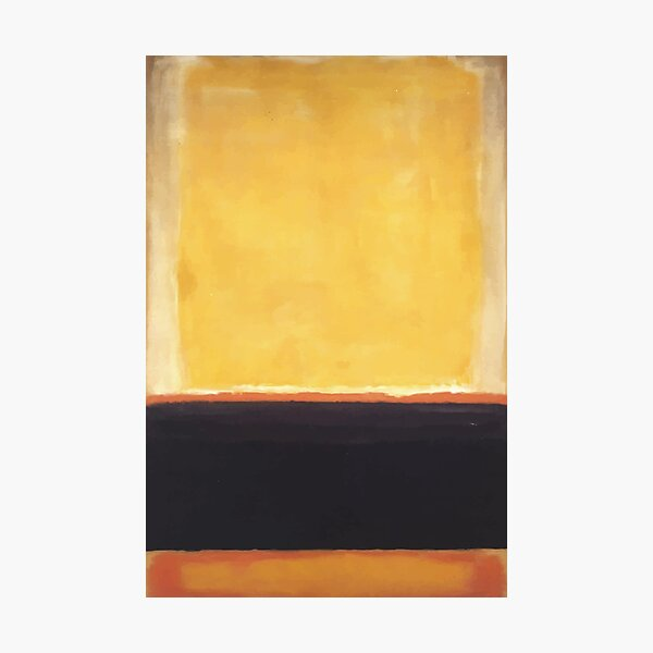 Mark Rothko | Yellow, Charcoal, Brown Photographic Print