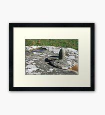 Phallic Stone Framed Print