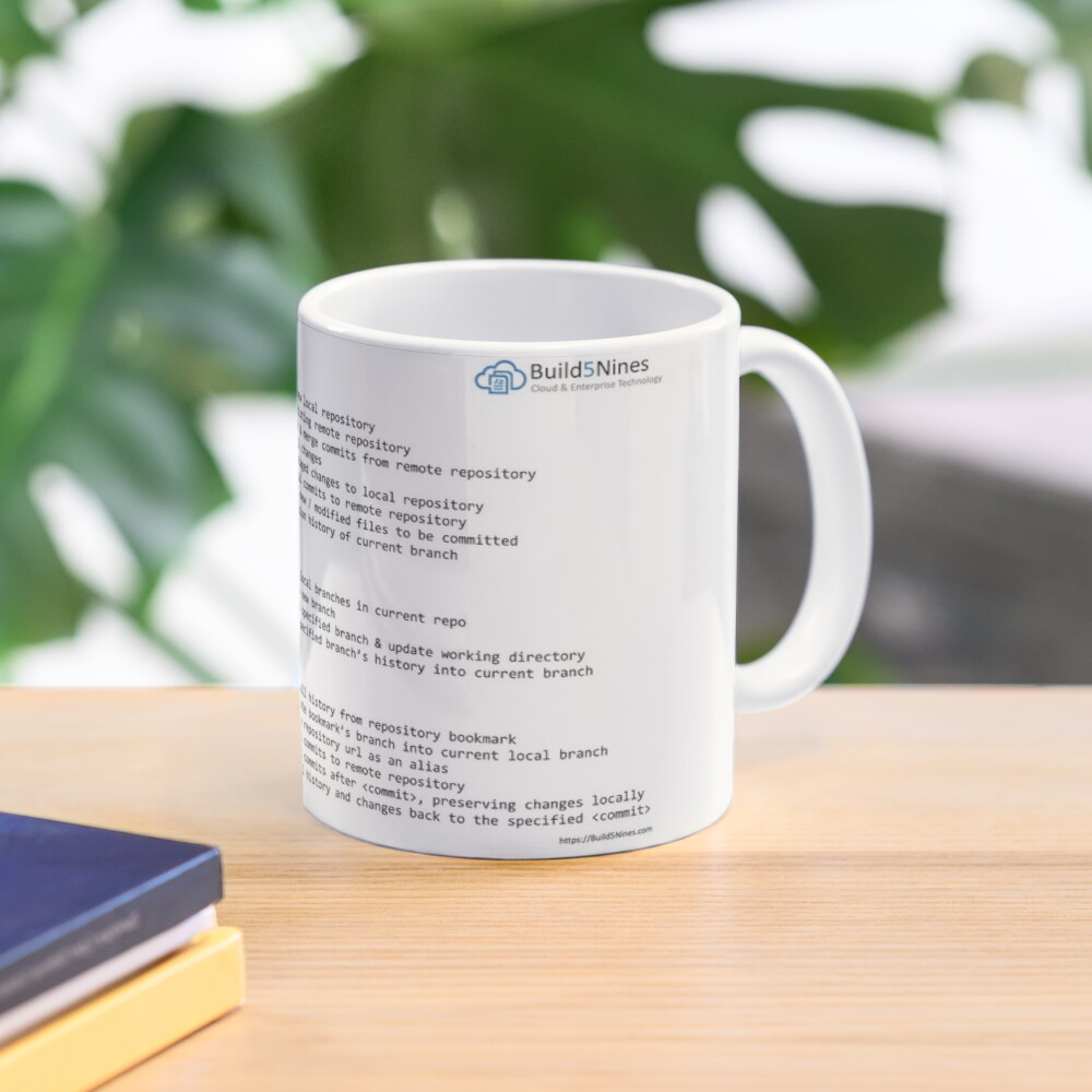 Git Cheat Sheet from Build5Nines.com Mug