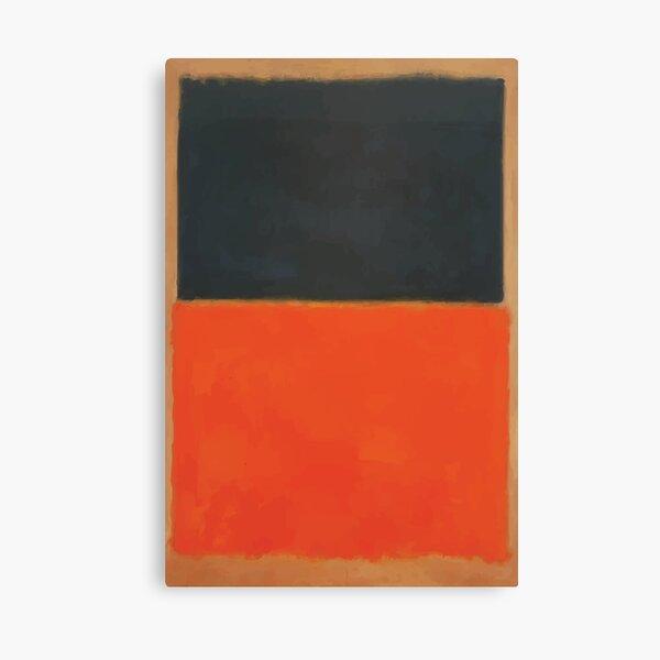 Mark Rothko | Verde y mandarina en rojo Lienzo