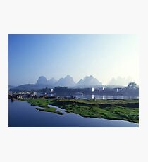 Mountains of Yangshuo Guilin Photographic Print