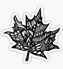 Leaf_black Sticker