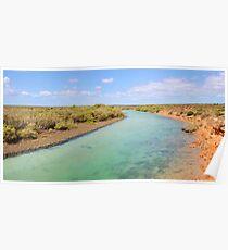 Little Lagoon Creek, landscape Poster