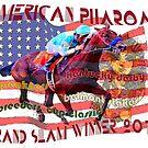 American Pharoah Horse Racing's Grand Slam Winner 2015 by Ginny Luttrell