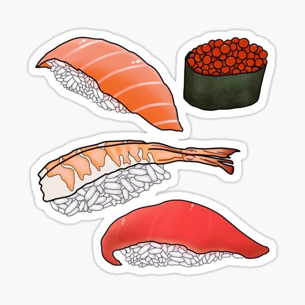 Sushi Set Sticker