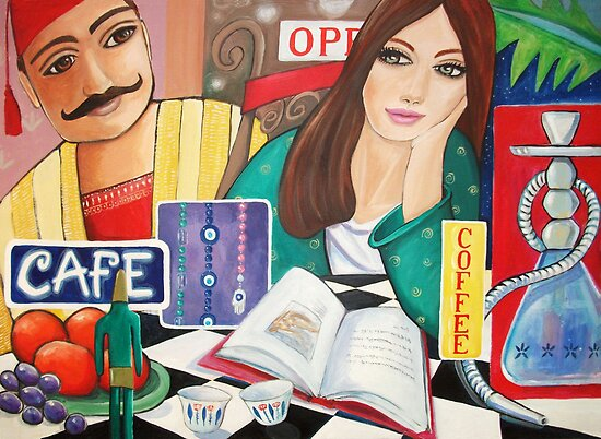 Cafe and Waterpipe by nancy salamouny