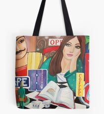 Cafe and Waterpipe Tote Bag