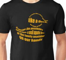 Ducks Obviously Unisex T-Shirt