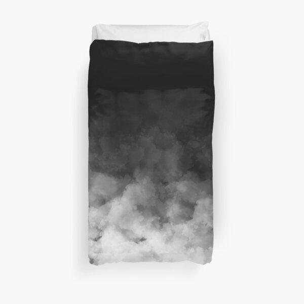 Ombre White and Black Minimal Duvet Cover