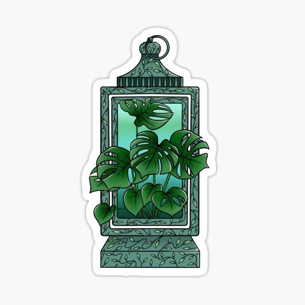 Monstera Lantern Sticker
