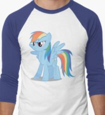 Rainbow Dash stance Men's Baseball ¾ T-Shirt