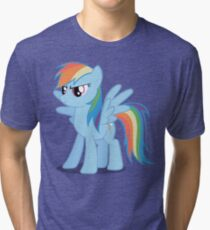 Rainbow Dash stance Tri-blend T-Shirt